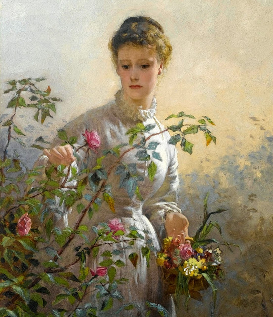 George Elgar Hicks - A Summer Bouquet