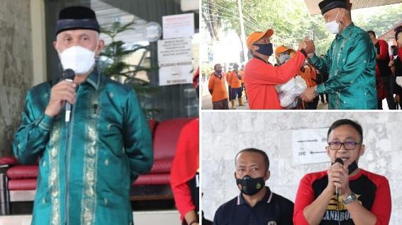 IASMA SMA-1 Labaouw-86 Wilayah Padang Beri Bantuan 70 Paket Sembako Bagi Pasukan Orange