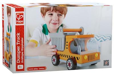 Hình ảnh hộp Xe ô tô tải bằng gỗ Hape Dumper Truck E3013A