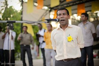 Photo: President Nasheed visits Addu 23/2/2012