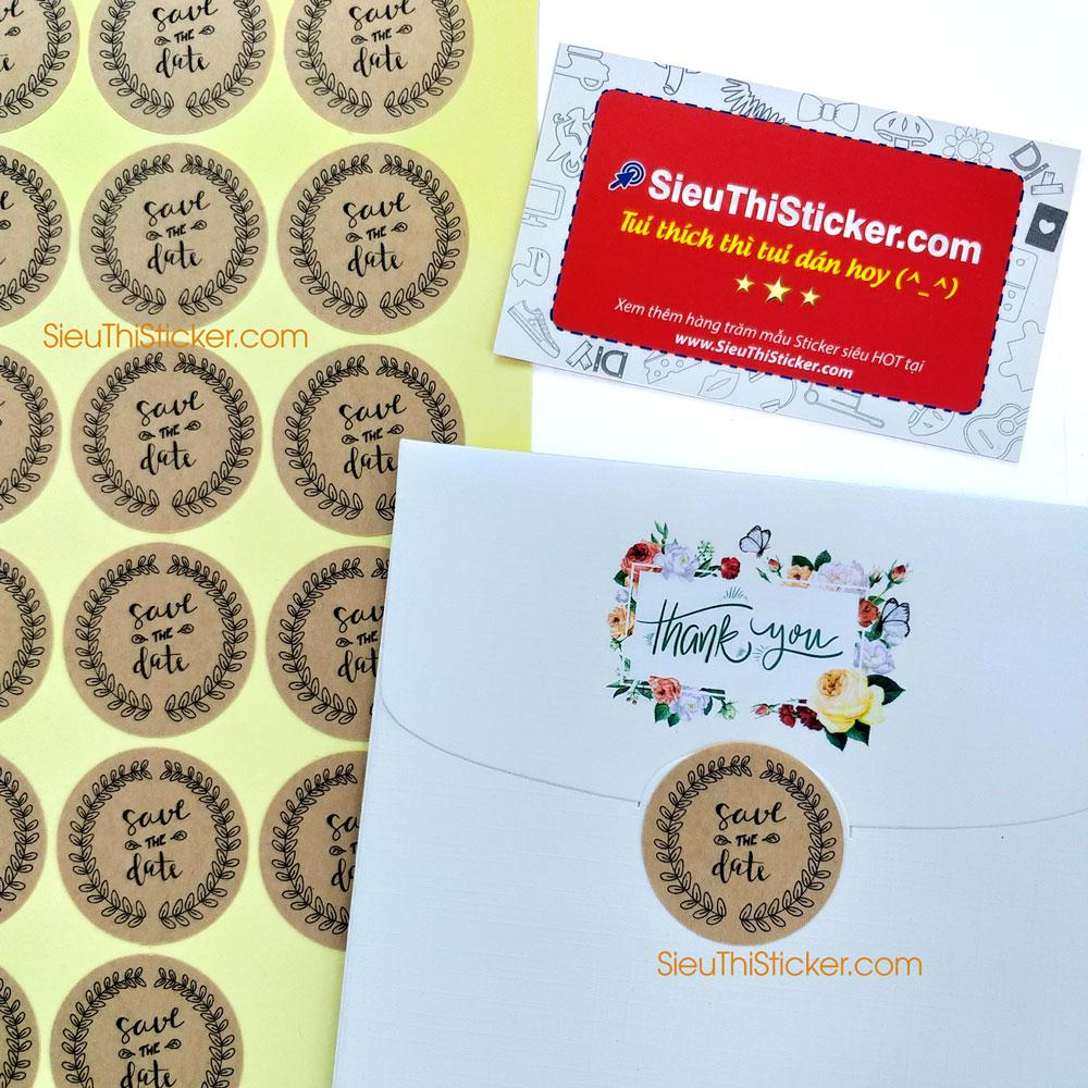 tem dán thiệp cưới save the date