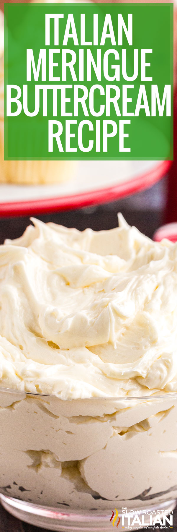 Italian Meringue Buttercream Recipe closeup
