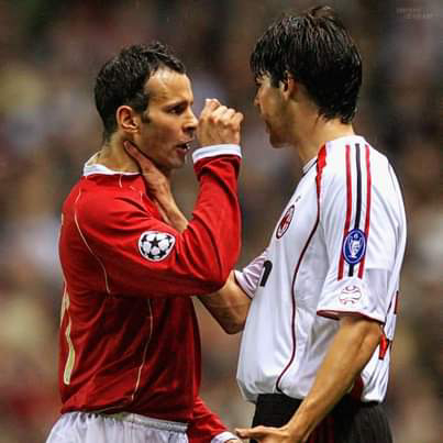 I fouled Kaka and he put his hand on my throat and we had a fight - Ryan Giggs