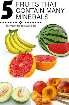 Banana Contain Many Minerals, Melon Contain Many Minerals, Watermelon Contain Many Minerals