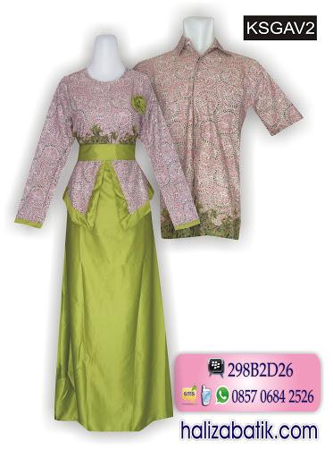 toko batik online, busana modern, model baju batik couple
