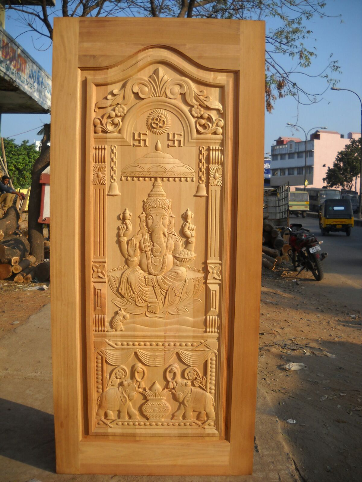 Contractors in chennai best main door designs door for Traditional wooden door design ideas