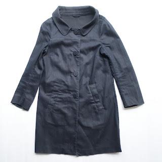 Prada Indigo Denim Coat