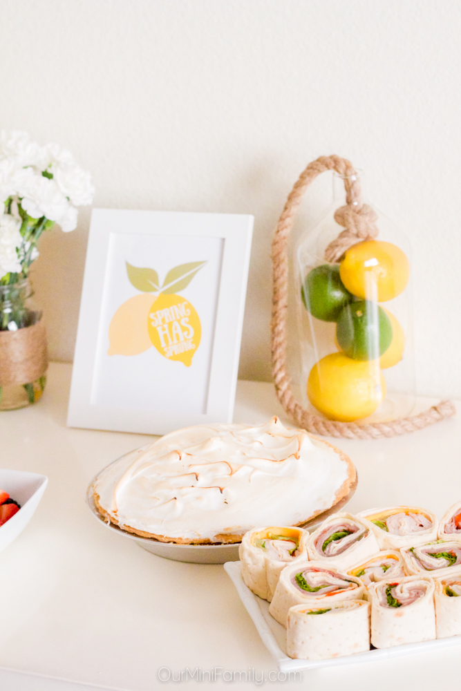 spring lemon party tablescape