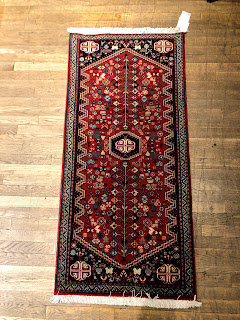 Small Red Field Tribal Rug