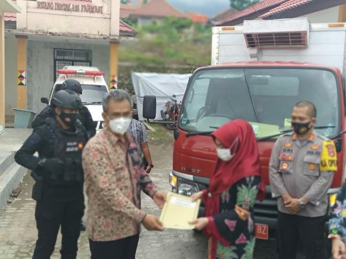 Gegana Lampung Kawal Pendistribusian Vaksin Covid-19 di 3 Kabupaten Wilayah Provinsi Lampung