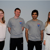 Sarah Lovett, Patrick Mathieson, Arshad Burki and Mandi Cass, all from Dover Squash & Fitness
