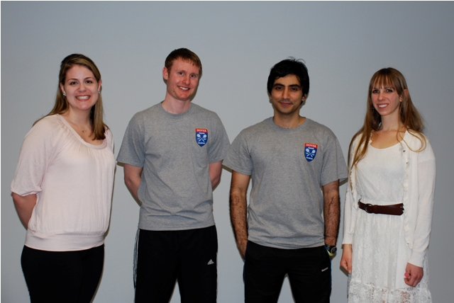 Sarah Lovett, Patrick Mathieson, Arshad Burki and Mandi Cass, all from Dover Squash & Fitness