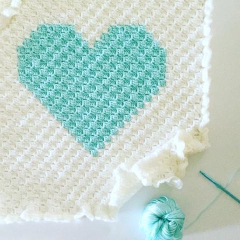 Daisy Farm Crafts Corner To Corner Crochet Heart