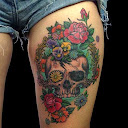 skull-and-roses-tattoo-design-idea10
