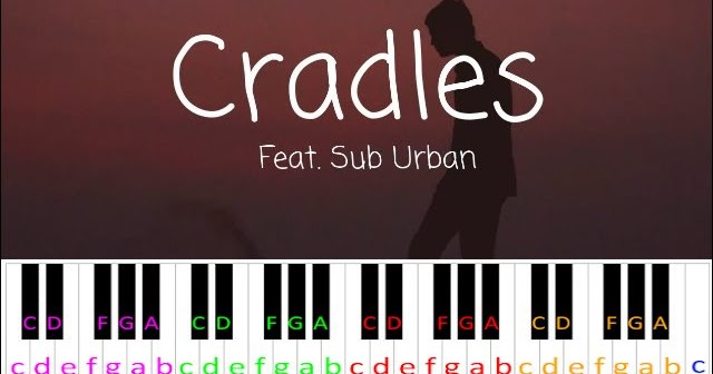 Cradles By Sub Urban Piano Letter Notes