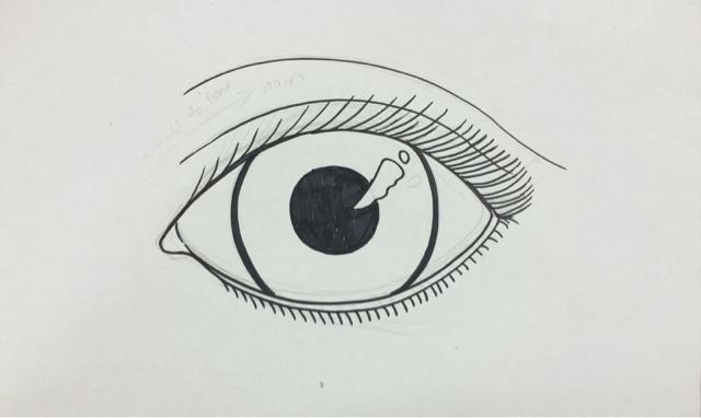 Line Drawing Eye : The lost sock eyes