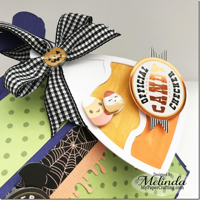 paper house tombow halloween candy corn gable box idea