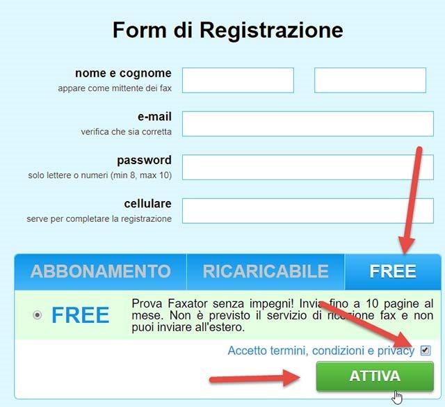 faxator-registrazione
