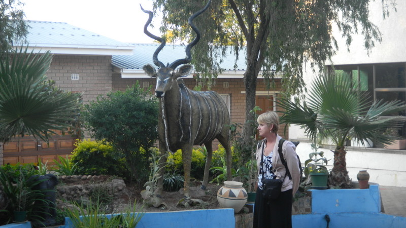 Kudu statue added at our house