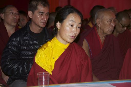 Khadro-la during long life puja offered to Lama Zopa Rinpoche, Bodh Gaya, India, January 2012