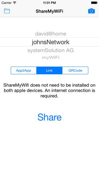 Wi-Fiを共有できる
