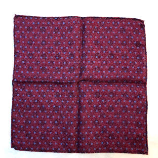 Saks Fifth Avenue Purple Dotted Paisley Pocket Square