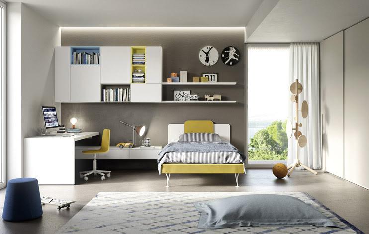 Camerette letti a castello e scrivanie camere per for Cameretta ragazzo design