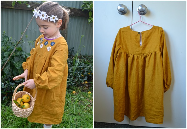 Mustard Bellbird dress 2