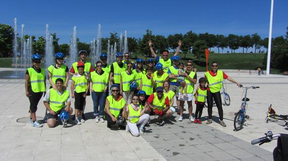 Circuito deportivo familiar en bicicleta en Hortaleza