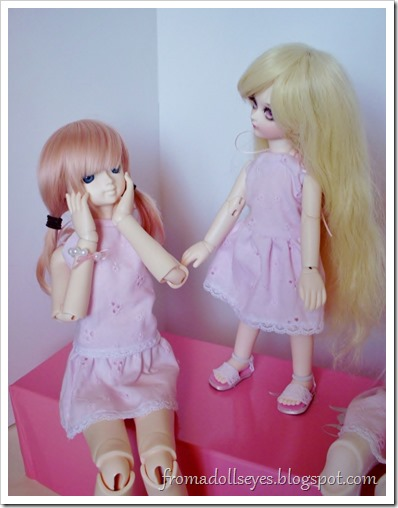 Of Bjd Fashion: Pretty and Pink and Short?: The dolls are enjoying their new outfits