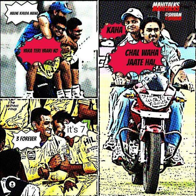 Dhoni, Raina, Kohli, Virat, Mahi, CSK, Team India, Indian Captain, Bleed Blue, Comics, IPL, Chennai, Worldcup, Captain Cool