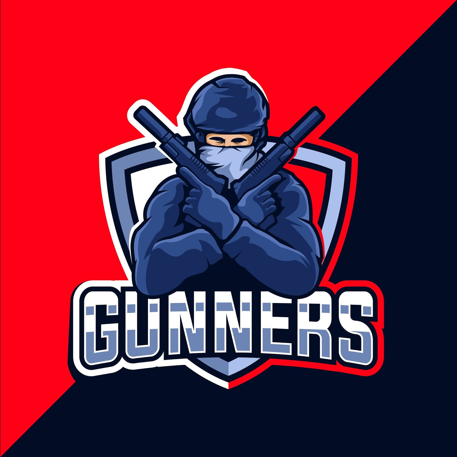 Gunner Esport Mascot Logo Design Free Download Vector CDR, AI, EPS and PNG Formats
