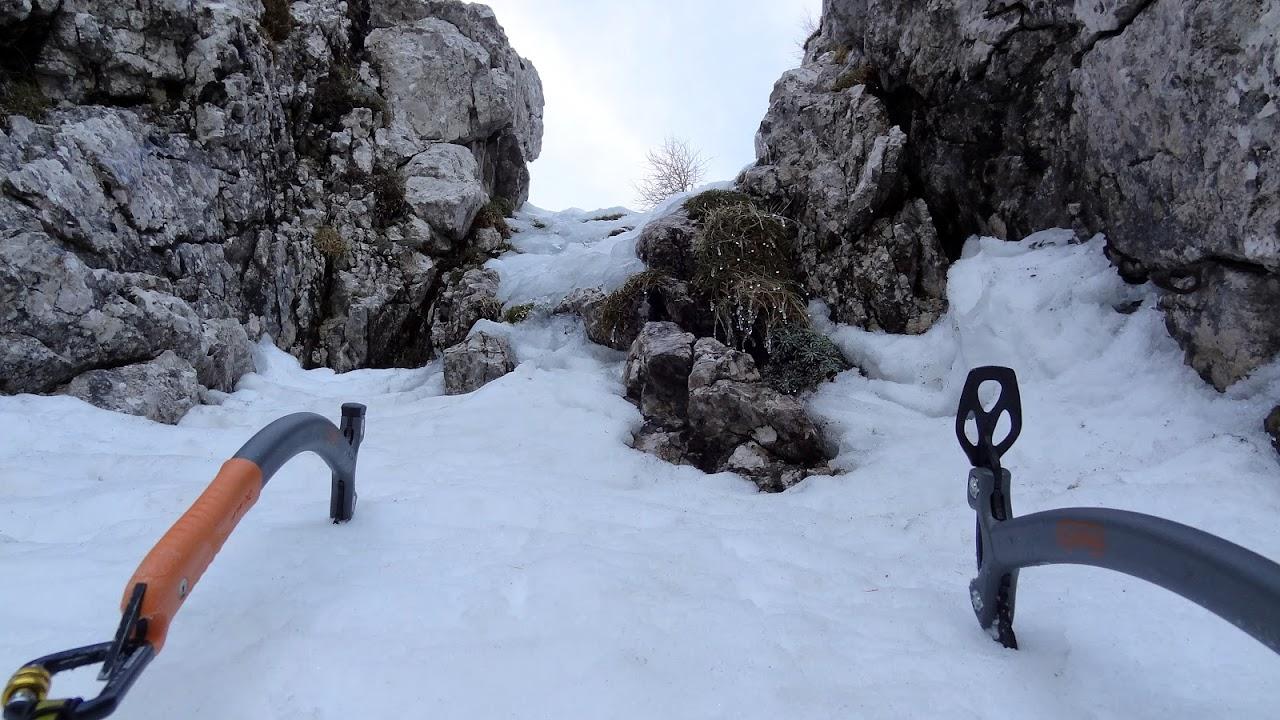 Eto i skokića, bil si je najtaman za oprezno popikati tanki led na stijeni