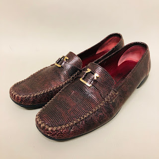 Salvatore Ferragamo Lizard Skin Loafers