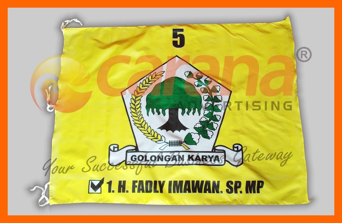 Bendera Anggota DPRD Golkar Fadly Imawan