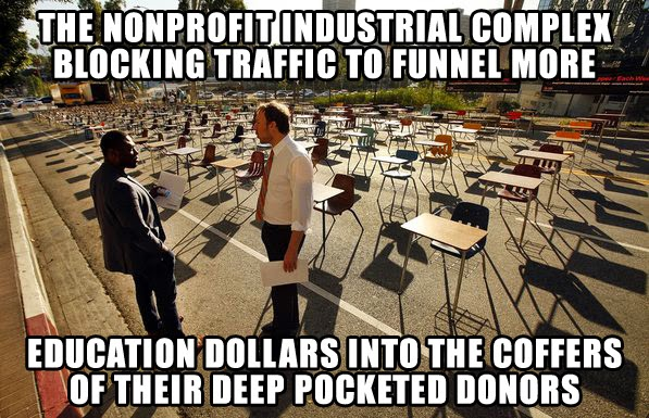 Eli Broad uses the Nonprofit Industrial Complex to hijack local control of school funding priorities