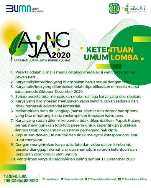 AJANG 2020, Apresiasi Jurnalistik Pupuk Kujang