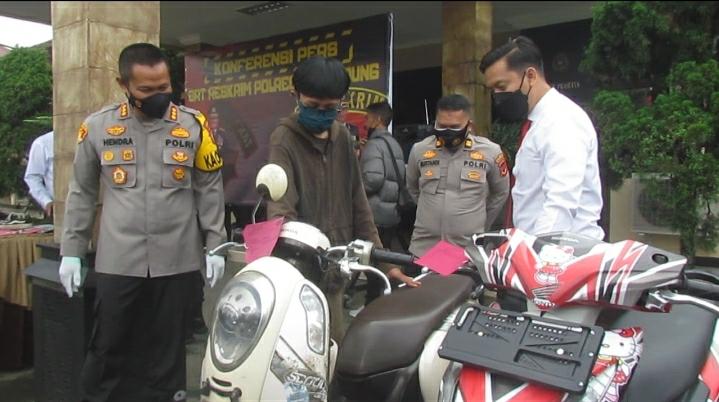 Gadis Pencuri Sepeda Motor Berhasil Ditangkap Polresta Bandung Polda Jabar
