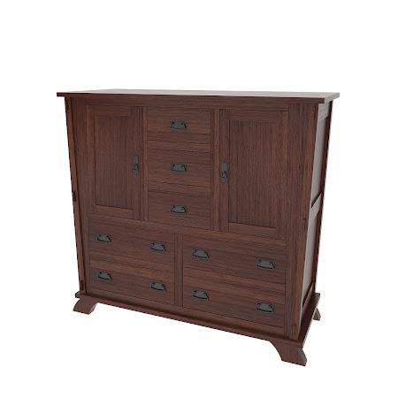 Baroque Wardrobe Dresser, Stormy Walnut