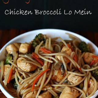 Chicken Broccoli Lo Mein {Gluten-free}