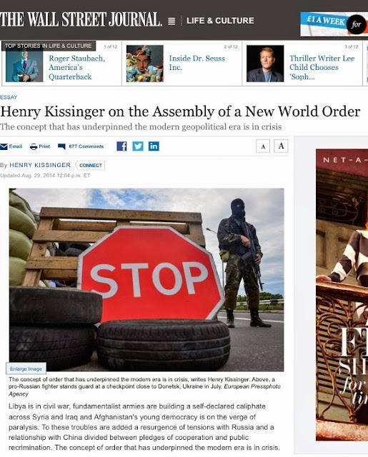News Spike Couldnt Make It Up World Order By Henry Kissinger