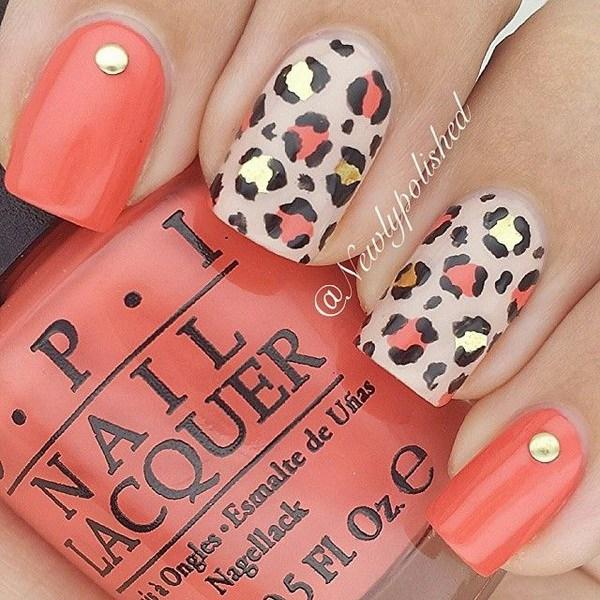 50+ cheetah and leopard print nail designs