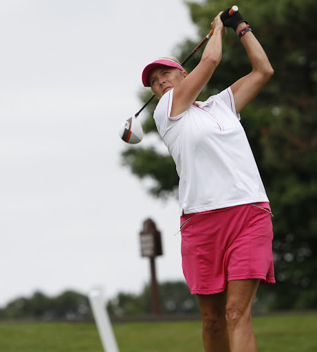 Claudia Pilot Lake Shore Minn. (77 3rd qualifier) at the 12th tee during joint sectional qualifying for the USGA Senior Amateur and Senior Womenu0027s ... : usga sectional qualifying - Sectionals, Sofas & Couches