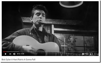 Bob Dylan singing Had Rain in 1964