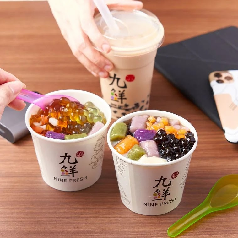 Nine Fresh customizable dessert bowls