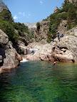 L'enchainement des piscines naturelles est un des atouts de ce canyon.