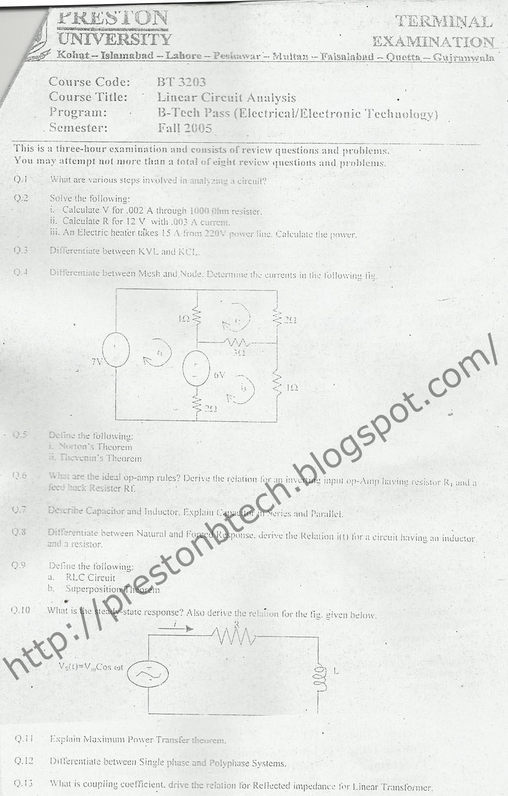 Preston University B.Tech Electronics Electrical
