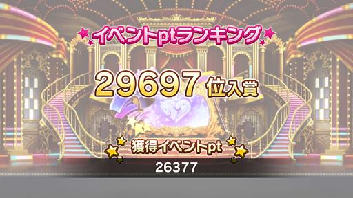 29,697位 26,377pt