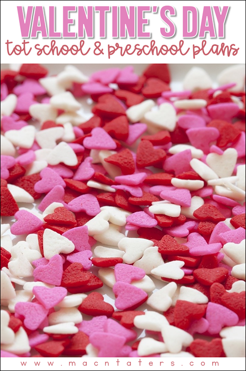 Valentine's Day TOt School and Preschool Theme