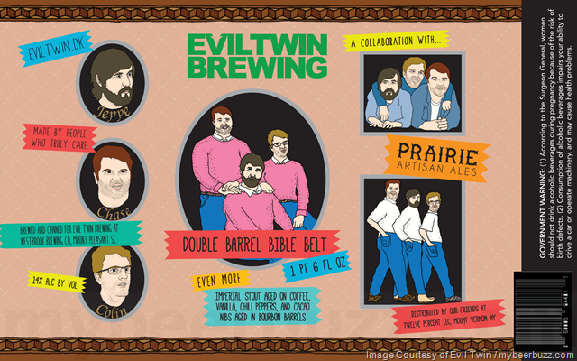 Evil Twin & Prairie Artisan Ales Team Up For Double Barrel Bible Belt